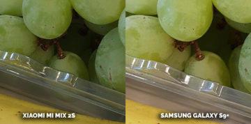 žebříček fotomobilů dxomarkXiaomi Mi Mix 2S Samsung Galaxy S9 Plus - ovoce detail