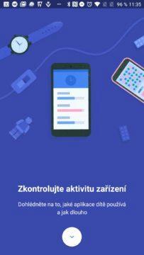 Google Family Link Zkontrolujte aktivitu zařízení