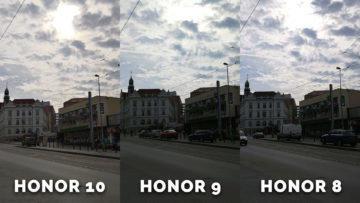 Honor fotomobil porovnaní fotografii - ulice