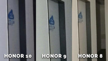 Detail dveri - test Honor 8, Honor 9, Honor 10