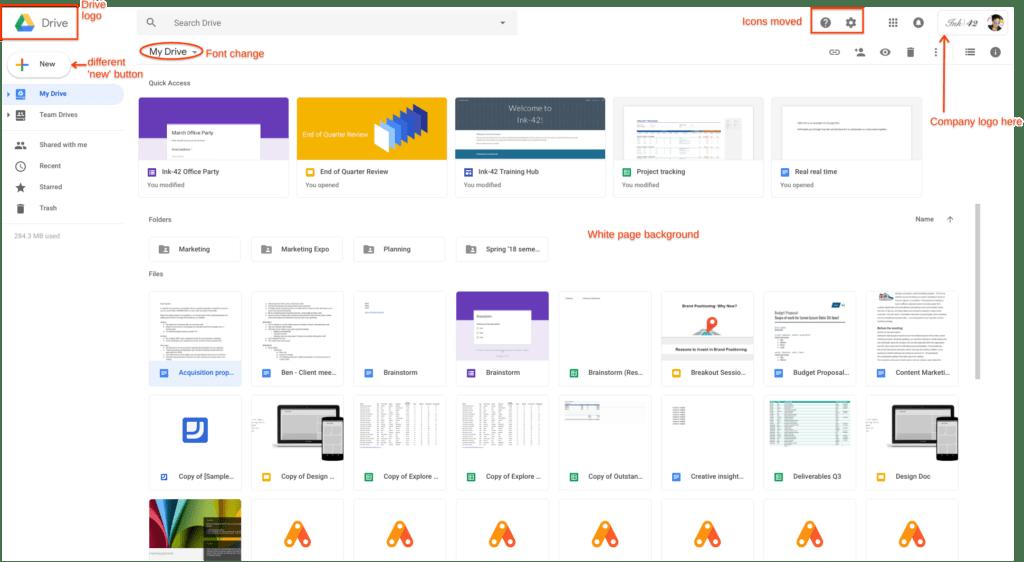 novy design google disk zmeny