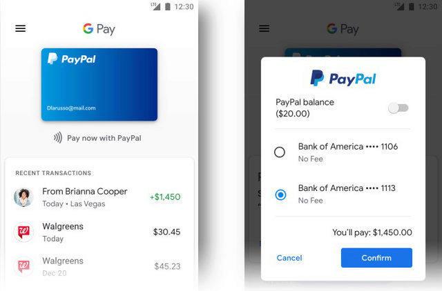 sluzba paypal google pay