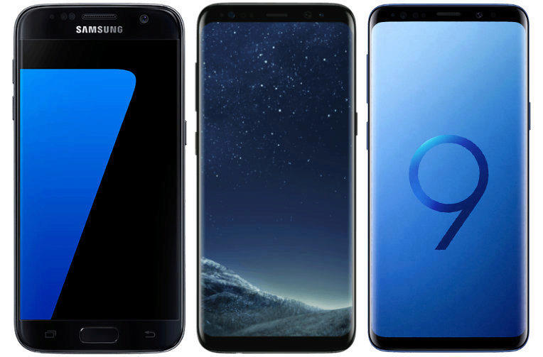srovnani vykonu telefonu samsung galaxy S7 galaxy s8 galaxy s9