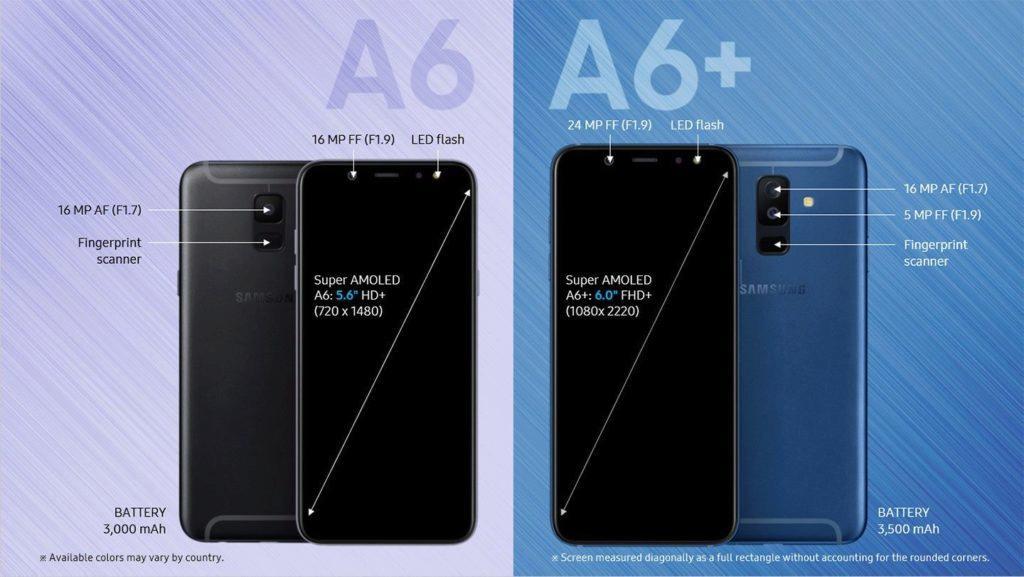 telefony samsung galaxy a6 a6+