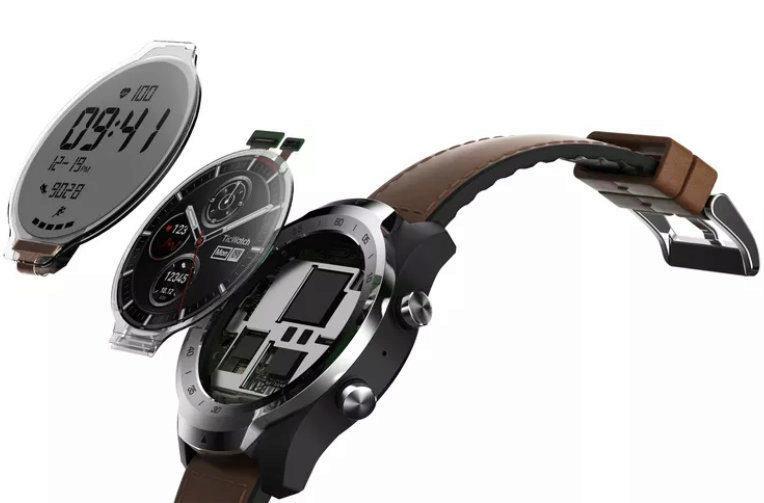ticwatch pro chytre hodinky dva displeje