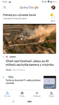 zpravy google novinky