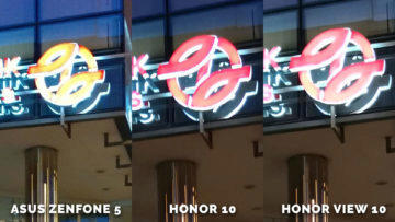 Asus Zenfone 5 vs. Honor 10 vs. Honor View 10 jak foti noc - logo dpp