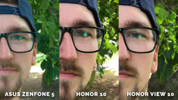 Portret test detail - Asus Zenfone 5 vs. Honor 10 vs. Honor View 10