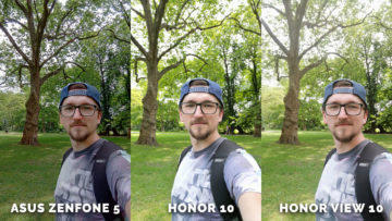 Test selfie - Asus Zenfone 5 vs. Honor 10 vs. Honor View 10