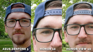 Test selfie detail - Asus Zenfone 5 vs. Honor 10 vs. Honor View 10
