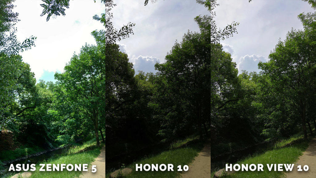 fototest Asus Zenfone 5 vs. Honor 10 vs. Honor View 10
