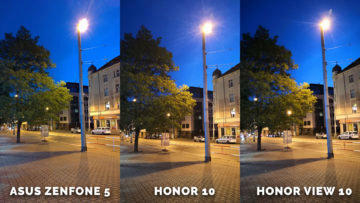 fototest Asus Zenfone 5 vs. Honor 10 vs. Honor View 10 - nocni ulice