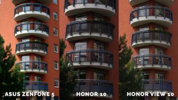 který fotoaparát je nejlepší Asus Zenfone 5 vs. Honor 10 vs. Honor View 10 dum