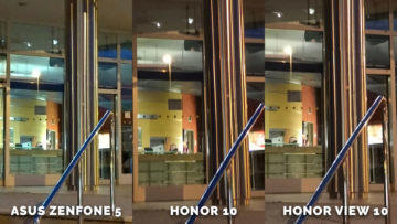 Asus Zenfone 5 vs. Honor 10 vs. Honor View 10 testovani fotoaparatu - dvere