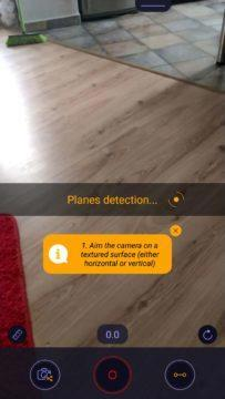 ARuler Detekce podlahy