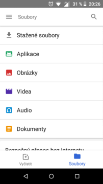 Files Go spravce souboru android go