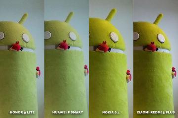 Fototest levných telefonů Honor 9 Lite vs Huawei P Smart vs Nokia 6.1 vs Xiaomi Redmi 5 Plus - android maskot
