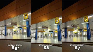 Špatné světelné podmínky samsung galaxy fotografie - metro detail