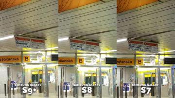 Noční fotografie Samsung Galaxy - metro