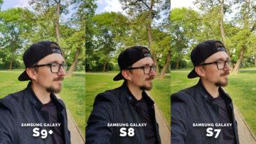 Samsung galaxy S7 galaxy S8 galaxy S9 portret - test