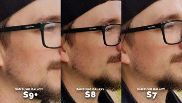 Testování fotoaparatu Samsung Galaxy S7, Galaxy S8, Galaxy S9 - obličej profil