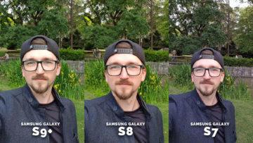 Test Selfie kamery Samsung Galaxy - detail obličej