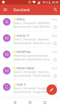 Gmail Go aplikace