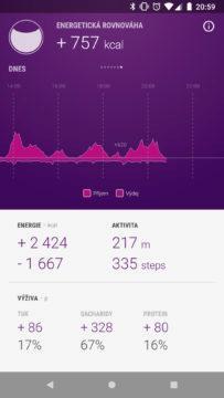 GoBe2 aplikace kalorická rovnováha
