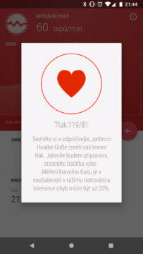 GoBe2 měření krevního tlaku aplikace