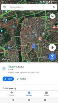 Google Mapy novy Material design