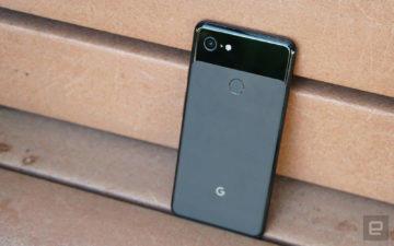 Google Pixel 3 XL zadni strana ctecka otisku prstu