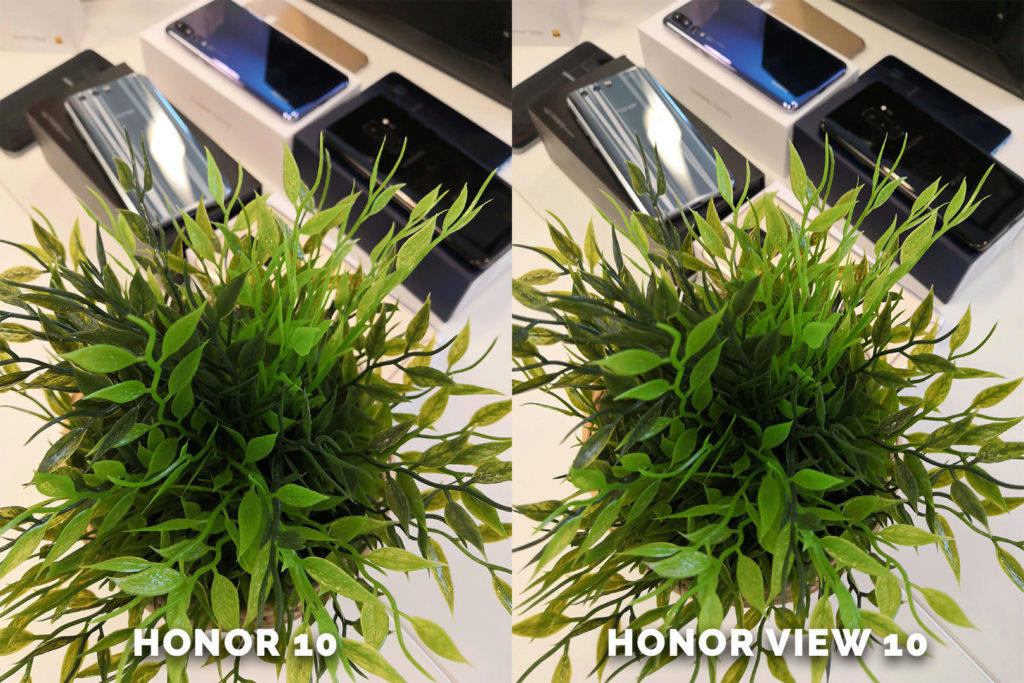 Honor 10 vs. Honor View 10 rostlina testovani