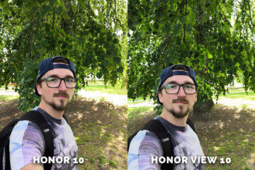 Honor 10 vs. Honor View 10 selfie fotografie