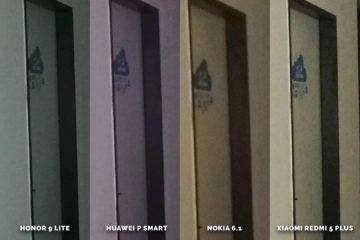 Huawei vs Honor vs Xiaomi vs Nokia fototest dvere detail