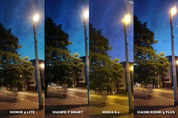 Huawei vs Honor vs Xiaomi vs Nokia fototest nocni ulice