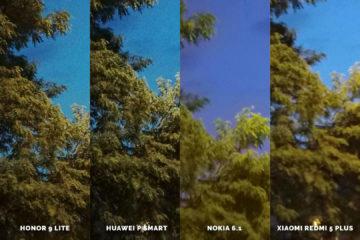 Huawei vs Honor vs Xiaomi vs Nokia fototest strom vetve
