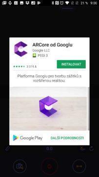 Instalace ARCore od Googlu