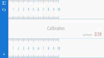 Kalibrace měřítka Ruler