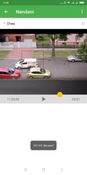 Kontrola narušení Výběr role Přihlášení účtem Google Úvodní nastavení Security Camera