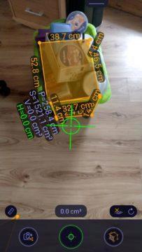 ARuler Měření objemu