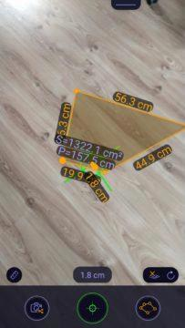 ARuler Měření plochy