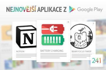 Nejnovější aplikace z Google Play #241: zdravé nabíjení baterie