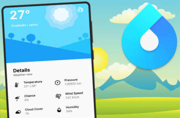 Aplikace pro předpověď počasí Overdrop sází na moderní design