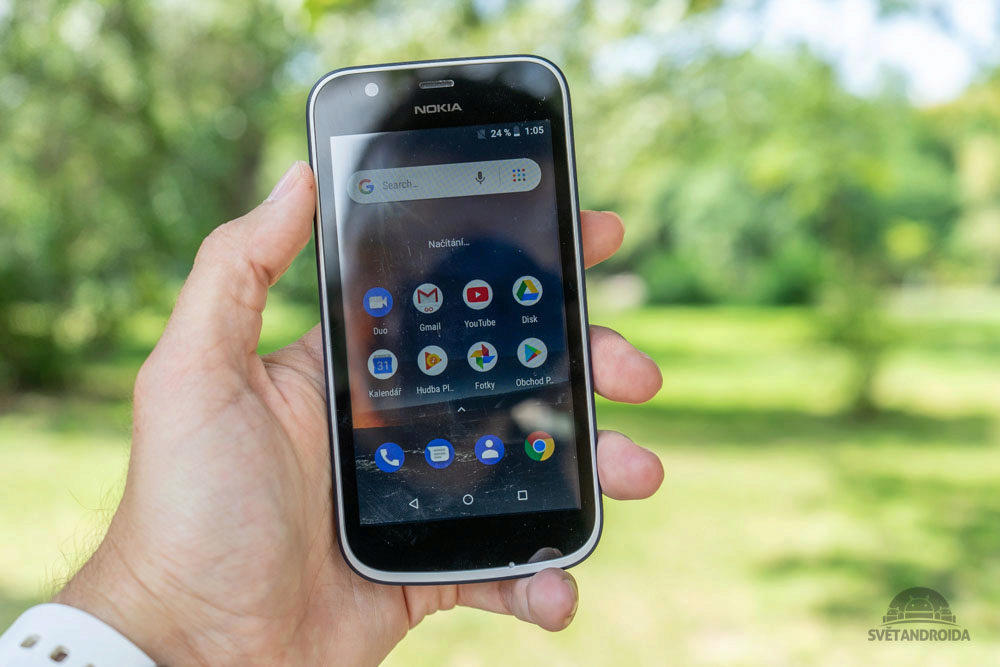 Nokia 1 displej telefonu