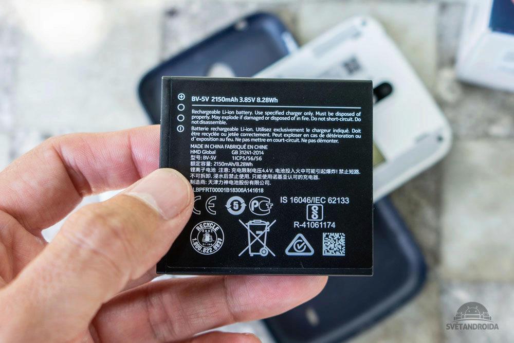 Nokia 1 vymenitelna baterie