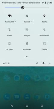 Nokia 7 Plus notifikace
