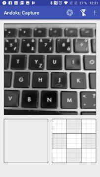 Okno aplikace Andoku Capture