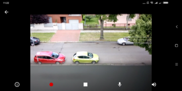 Přímý pohled na kameru Výběr role Přihlášení účtem Google Úvodní nastavení Security Camera