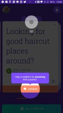 Přes tlačítko odpovíte Google Neighbourly