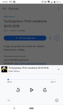 Podcasty Google přehrávání